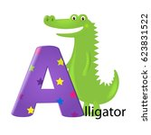 Green Alligator With Letter A