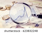 Magnifier Focuses A Chart With...