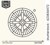roulette. vector single... | Shutterstock .eps vector #623836472