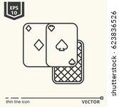 three cards. vector single... | Shutterstock .eps vector #623836526