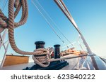 luxury yacht tackle during the... | Shutterstock . vector #623840222