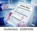health plan treatment medical... | Shutterstock . vector #623845286