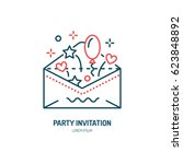 party invitation card in... | Shutterstock .eps vector #623848892