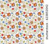 vector illustration of seamless ... | Shutterstock .eps vector #623852042