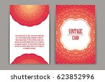 retro card with mandala.... | Shutterstock .eps vector #623852996