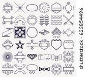 design decoration elements set... | Shutterstock .eps vector #623854496