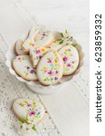 colorful easter biscuits.... | Shutterstock . vector #623859332