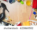 after party and hangover themed ... | Shutterstock . vector #623860502