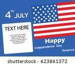 independence day america vector ... | Shutterstock .eps vector #623861372