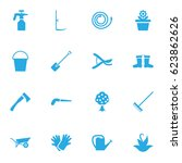 set of 16 farm icons set... | Shutterstock .eps vector #623862626