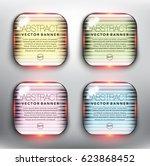 abstract vector banner set of 4....   Shutterstock .eps vector #623868452