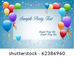 Party Balloons With Card For...