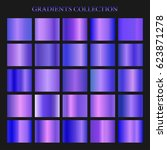 violet gradient collection for... | Shutterstock .eps vector #623871278