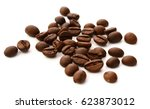coffee beans isolated on white | Shutterstock . vector #623873012