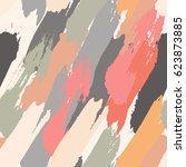 seamless oil painting vector... | Shutterstock .eps vector #623873885