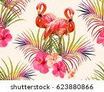 beautiful seamless vector... | Shutterstock .eps vector #623880866
