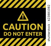 do not enter sign yellow | Shutterstock .eps vector #623881082