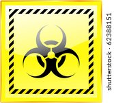 biohazard sign. vector... | Shutterstock .eps vector #62388151