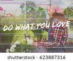 motivation faith grateful... | Shutterstock . vector #623887316