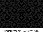 seamless black background with...   Shutterstock .eps vector #623894786