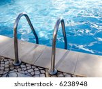 Border Of Pool And Stair  With...