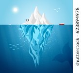 vector iceberg infographics... | Shutterstock .eps vector #623894978