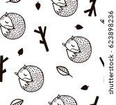 seamless black and white... | Shutterstock .eps vector #623898236