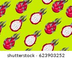 seamless pattern with dragon... | Shutterstock .eps vector #623903252