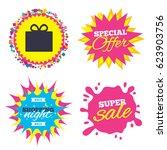 sale splash banner  special... | Shutterstock .eps vector #623903756