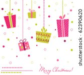 vector gift boxes  christmas... | Shutterstock .eps vector #62390620