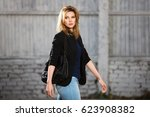 young fashion blond business... | Shutterstock . vector #623908382