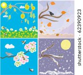 Icons Of Seasonal Changes Of...