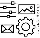 big data management vector icon | Shutterstock .eps vector #623914178