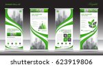 roll up banner stand template... | Shutterstock .eps vector #623919806