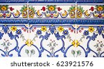 detail of the traditional tiles ... | Shutterstock . vector #623921576