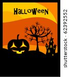 halloween background with... | Shutterstock .eps vector #62392552