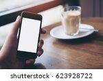 mockup image of businessman's... | Shutterstock . vector #623928722
