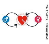 love couple conceptual logo ... | Shutterstock . vector #623931752