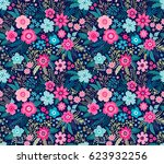 amazing seamless floral pattern ...