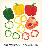 bell pepper vector | Shutterstock .eps vector #623936846