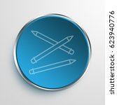 blue sign pencils symbol icon... | Shutterstock . vector #623940776