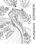 vector illustration of fairy... | Shutterstock .eps vector #623940878
