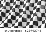 checkered flag race flag  3d... | Shutterstock . vector #623943746