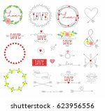 set of elements for design  ... | Shutterstock .eps vector #623956556