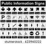 public information signs... | Shutterstock .eps vector #623960222