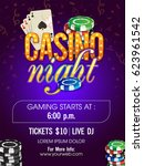 casino night flyer design... | Shutterstock .eps vector #623961542