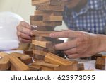planning  risk and strategy of... | Shutterstock . vector #623973095