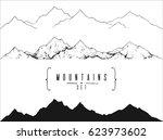 set of hand drawn landscape... | Shutterstock .eps vector #623973602