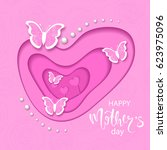 happy mothers day banner with... | Shutterstock .eps vector #623975096
