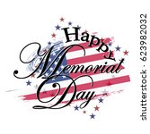happy memorial day usa  a... | Shutterstock .eps vector #623982032